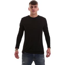 Textil Homem T-shirt mangas compridas Antony Morato MMKL00264 FA100066 Preto