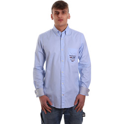 Textil Homem Camisas mangas comprida Navigare NV91061 BD Azul