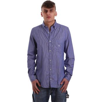 Textil Homem Camisas mangas comprida Navigare NV91068 BD Azul