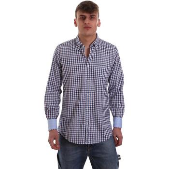 Textil Homem Camisas mangas comprida Navigare NV91072 BD Azul