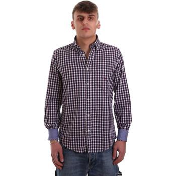 Textil Homem Camisas mangas comprida Navigare NV91074 BD Vermelho