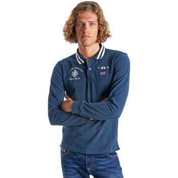 Textil Homem Polos mangas compridas La Martina OMP325 JS005 Azul