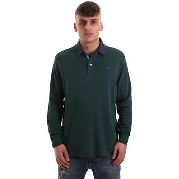 Textil Homem Polos mangas compridas La Martina OMP007 JS169 Verde
