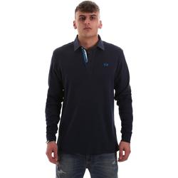 Textil Homem Polos mangas compridas La Martina OMP007 JS169 Azul