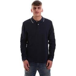 Textil Homem Polos mangas compridas La Martina OMPM36 JS169 Azul