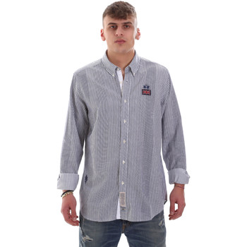Textil Homem Camisas mangas comprida La Martina OMC021 PP472 Branco