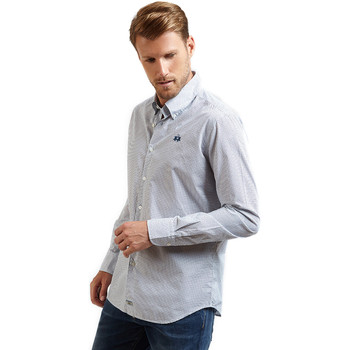 Textil Homem Camisas mangas comprida La Martina OMC016 PP462 Azul