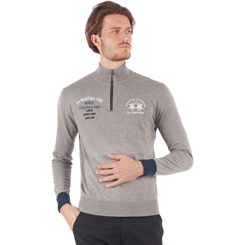 Textil Homem T-shirt mangas compridas La Martina OMS317 YW025 Cinzento