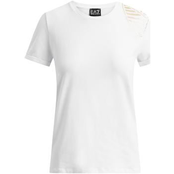 Textil Mulher T-Shirt mangas curtas Emporio Armani EA7 6GTT07 TJ12Z Branco