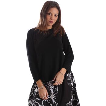 Textil Mulher camisolas Fracomina FR19FP8117 Preto