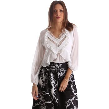 Textil Mulher camisas Fracomina FR19FMFLORRIE Branco