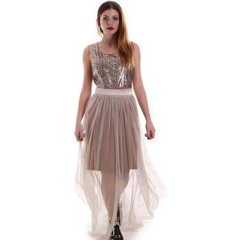 Textil Mulher Vestidos compridos Fracomina FR19FM518 Bege