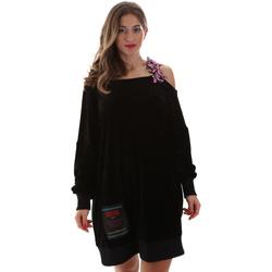 Textil Mulher Vestidos curtos Versace B6HUB77011684899 Preto
