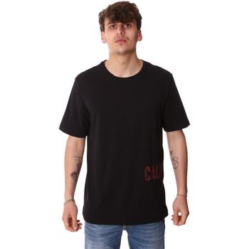 Textil Homem T-Shirt mangas curtas Calvin Klein Jeans 00GMH9K287 Preto