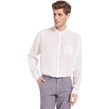 Textil Homem Camisas mangas comprida Gaudi 011BU45001 Branco