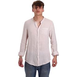 Textil Homem Camisas mangas comprida Gaudi 011BU45001 Bege