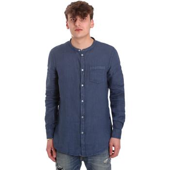 Textil Homem Camisas mangas comprida Gaudi 011BU45001 Azul