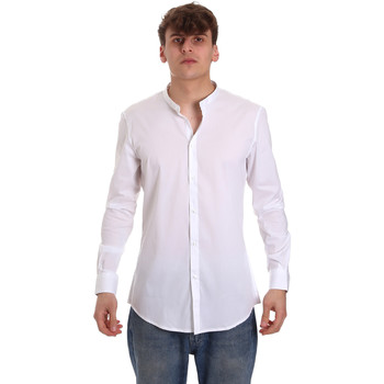 Textil Homem Camisas mangas comprida Gaudi 011BU45013 Branco