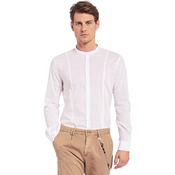 Textil Homem Camisas mangas comprida Gaudi 011BU45031 Branco