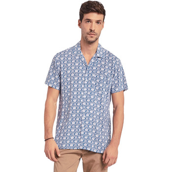 Textil Homem Camisas mangas curtas Gaudi 011BU45046 Azul