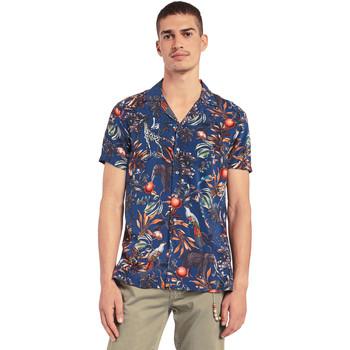 Textil Homem Camisas mangas curtas Gaudi 011BU45047 Azul