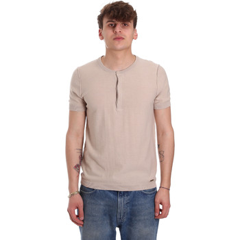 Textil Homem T-Shirt mangas curtas Gaudi 011BU53007 Bege