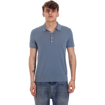 Textil Homem Polos mangas curta Gaudi 011BU53011 Azul