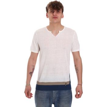 Textil Homem T-Shirt mangas curtas Gaudi 011BU53021 Bege