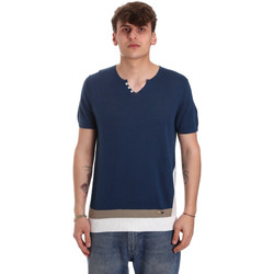 Textil Homem T-Shirt mangas curtas Gaudi 011BU53021 Azul