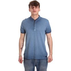 Textil Homem Polos mangas curta Gaudi 011BU64018 Azul