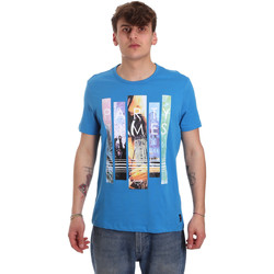 Textil Homem T-Shirt mangas curtas Gaudi 011BU64028 Azul