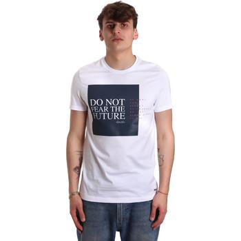 Textil Homem T-Shirt mangas curtas Gaudi 011BU64067 Branco