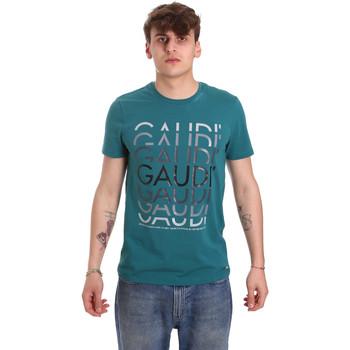 Textil Homem T-Shirt mangas curtas Gaudi 011BU64068 Verde
