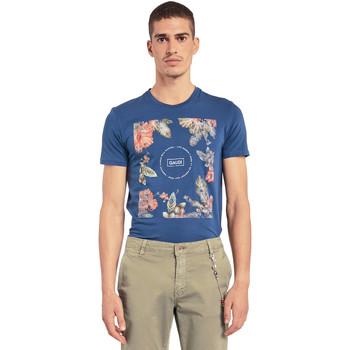 Textil Homem T-Shirt mangas curtas Gaudi 011BU64070 Azul