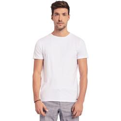Textil Homem T-Shirt mangas curtas Gaudi 011BU64093 Branco