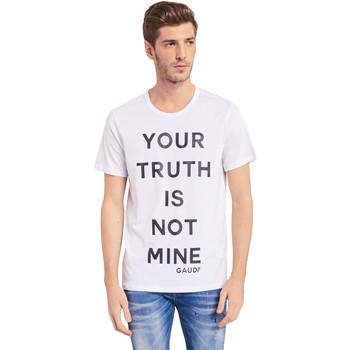 Textil Homem T-Shirt mangas curtas Gaudi 011BU64107 Branco