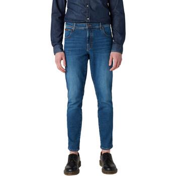 Textil Homem Calças de ganga slim Wrangler W12ST112E Azul