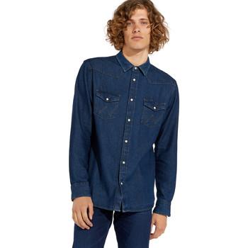 Textil Homem Camisas mangas comprida Wrangler W5MSLW301 Azul