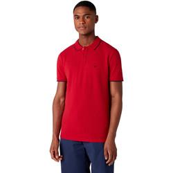 Textil Homem Polos mangas curta Wrangler W7D5K4X47 Vermelho