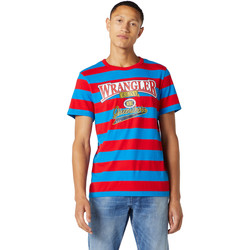 Textil Homem T-Shirt mangas curtas Wrangler W7E1FKXKL Azul