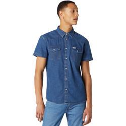 Textil Homem Camisas mangas curtas Wrangler W5J05D50B Azul