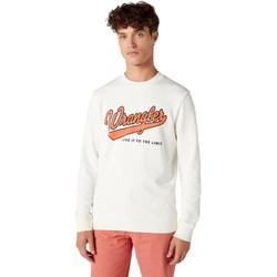 Textil Homem Sweats Wrangler W6A5HA737 Branco