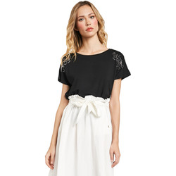 Textil Mulher T-Shirt mangas curtas Gaudi 011FD64022 Preto