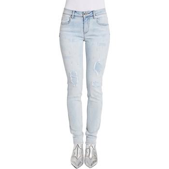 Textil Mulher Calças de ganga slim Gaudi 011BD26025 Azul
