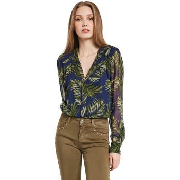 Textil Mulher camisas Gaudi 011BD45018 Azul