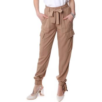 Textil Mulher Calça com bolsos Fracomina FR20SP127 Bege