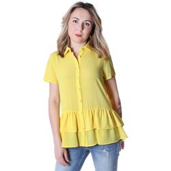 Textil Mulher camisas Fracomina FR20SP039 Amarelo