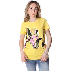 Textil Mulher T-Shirt mangas curtas Fracomina FR20SP368 Amarelo