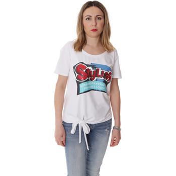 Textil Mulher T-Shirt mangas curtas Fracomina FR20SP303 Branco