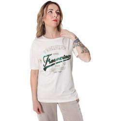 Textil Mulher T-Shirt mangas curtas Fracomina FR20SP305 Branco